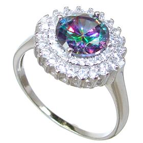 Mystic Quartz Sterling Silver Ring size S