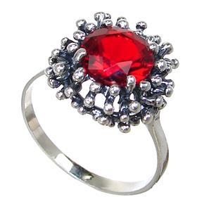 Red Quartz Sterling Silver Ring size V