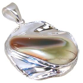 Fancy Jasper Sterling Silver Pendant