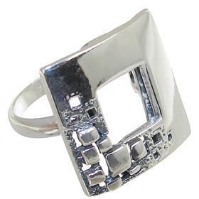 Modern Plain Sterling Silver Ring size P
