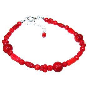 Red Coral Fashion Bracelet