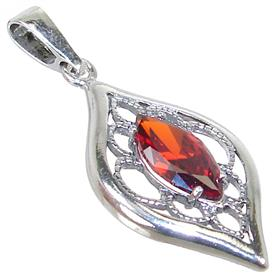 Red Quartz Sterling Silver Pendant