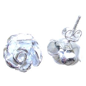 Flower Sterling Silver Earrings Stud