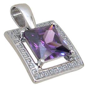 Purple Quartz Sterling Silver Pendant