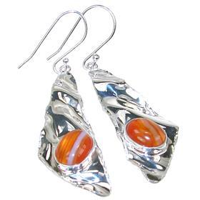 Fancy Agate Sterling Silver Earrings