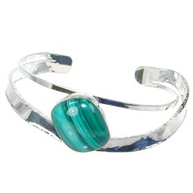 Malachite Sterling Silver Bracelet Bangle