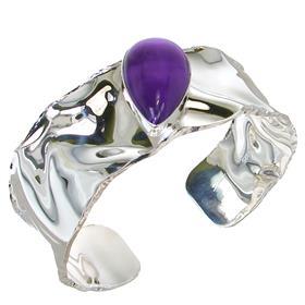 Purple Quartz Sterling Silver Bracelet Bangle
