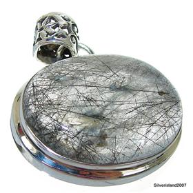 Tourmalinated quartz sterling silver pendant 10322d silver island uk tourmalinated quartz sterling silver pendant aloadofball Image collections