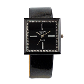 Eton Boxed Diamente Leather Straps Watch