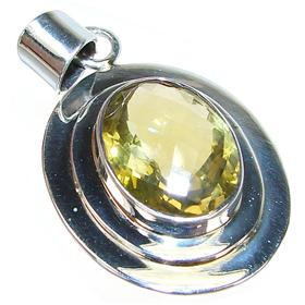 Large citrine sterling silver gemstone pendant 2916q silver large citrine sterling silver gemstone pendant aloadofball Choice Image