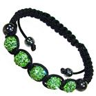 Shamballa Green Crystal Bracelet Unisex