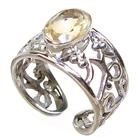 Sunny Citrine Sterling Silver Ring size O 1/2