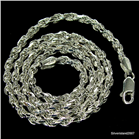 Sterling Silver Rope Chain 18 inches long