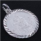Engraved Sterling Silver Pendant