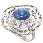 Rare Kyanite Sterling Silver Ring Size P 1/2