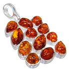 Polish Baltic Amber Sterling Silver Pendant