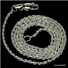 Beautiful Rope Sterling Silver Chain 18 inches long