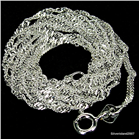 Twisted Singapure Sterling Silver Chain 20 inches 2mm