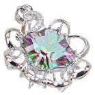 Designer Mystic Quartz Sterling Silver Pendant
