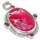 Large Sea Sediment Sterling Silver Pendant