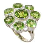 Fancy Peridot Sterling Silver Ring size L 1/2