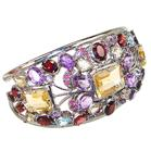 Incredible Chunky Multigem Sterling Silver Bracelet Bangle