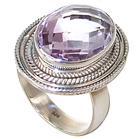 Delightful Amethyst Sterling Silver Ring size R 1/2
