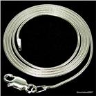 Round Snake Sterling Silver Chain 16 inches 0.8mm
