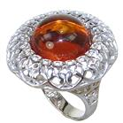 Baltic Amber Sterling Silver Ring size L 1/2