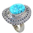 Turquoise Sterling Silver Ring size O
