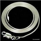 Round Snake Sterling Silver Chain 18 inches 1mm