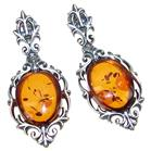 Baltic Amber Sterling Silver Earrings Stud