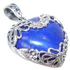 Created Lapis Lazuli Sterling Silver Pendant