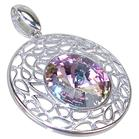 Crystal Sterling Silver Pendant