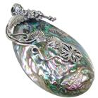 Rainbow Abalone Sterling Silver Pendant