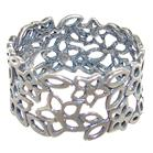 Modern Plain Sterling Silver Ring size T 1/2