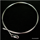 Omega Axe Sterling Silver Chain 16 inches long