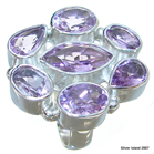 Royal Amethyst Sterling Silver Ring size O 1/2