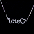 Romantic Night Sterling Silver Necklace lenght 16 1/2 inches
