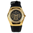 Eton Boxed Gold Coloured Diamante Rubber Strap Watch