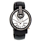 Eton round case bangle with diamante Watch