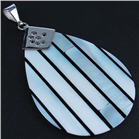 Huge! Blister Pearl Sterling Silver Pendant