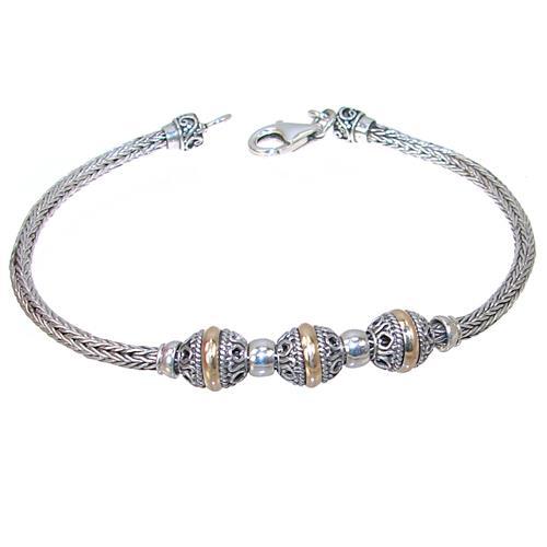 30d8ef316990a Bali Design Plain Sterling Silver Bracelet 94 13 V - Silver Island UK