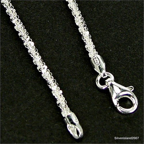 54d470fdaa9799 Stunning Twisted Roc Sterling Silver Chain 18 inches long 20/22/W ...