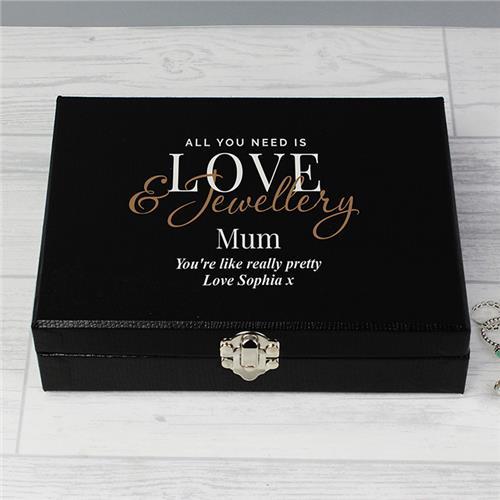 Personalised Love Jewellery Organiser Box