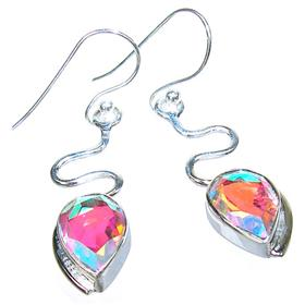 Incredible Madagascar Fire Quartz Sterling Silver Earrings