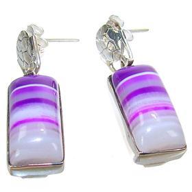 Botswana Agate Sterling Silver Earrings