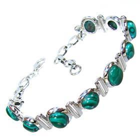 Incredible Malachite Sterling Silver Bracelet