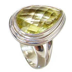 Artisan Citrine Sterling Silver Ring size N