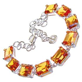 Incredible Honey Topaz Sterling Silver Bracelet